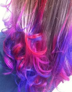 dip dyed hair... super cute and I wish I could pull it off