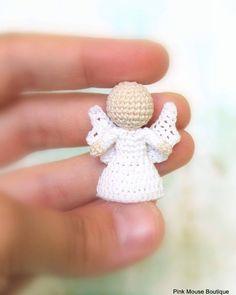 Little angel wip crochetangel amigurumiangel amigurumi crochet doll miniatureangel miniature mini instaangel instalove… Crochet Ornaments, Angel Ornaments, Crochet Gifts, Crochet Dolls, Crochet Angels, Angel Crafts, Crochet Decoration, Single Crochet Stitch, Amigurumi Doll
