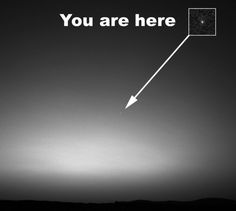 """This photo, called """"Earth From Mars,"""" was taken by NASA's Mars Exploration Rover Spirit on March 8, 2004. It was the first image of Earth seen from the surface of a planet beyond the moon."""