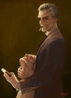 """allyalligator: """"Daily Drawing 03/21/14 My dear friend Pigeon's OC"""""""
