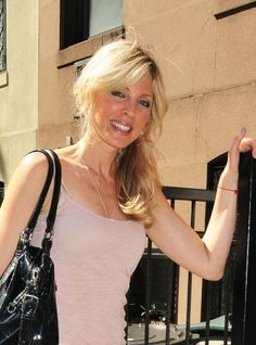 Marla Maples sweet side ponytail