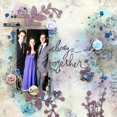 """SCRAP ADDICT: """"Always Together"""" Layout for 2Crafty Chipboard {also using 7Dots Studio/3rd Eye Crafts/Lindy's Stamp Gang} by Helen Tilbury"""