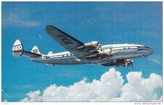 CUBANA de AVIACION Constellation Airplane , 1950s - Delcampe.com Passenger Aircraft, Sales Image, Air Show, Original Image, Golden Age, Constellations, Astronomy, Airplane, Planes
