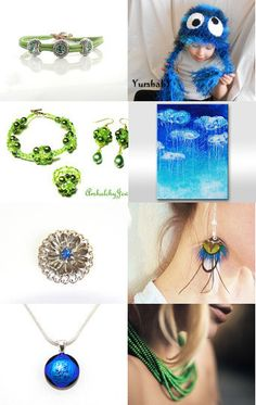 green and blue --Pinned with TreasuryPin.com