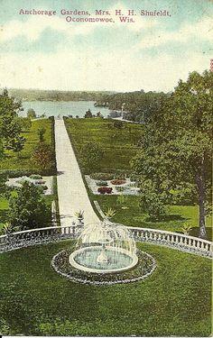 Birds eye view of Oconomowoc Wisconsin 1870 Town Names and