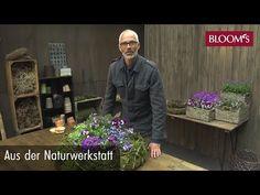 Aus der Naturwerkstatt - YouTube Flower Festival, Twig Wreath, Garden Deco, Vintage Diy, Christmas Inspiration, Flower Arrangements, Christmas Crafts, Floral Design, Workshop