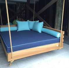 Our Swing Beds come standard in a twin, full, queen or king size. (Outdoor Sunbrella mattress can be purchased separately through our Etsy