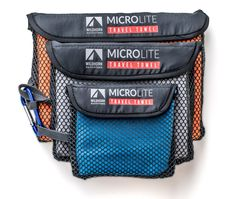 MicroLite Micro Fiber Camping / Travel Towels- 3 Pack - WildHorn Outfitters   $27.99
