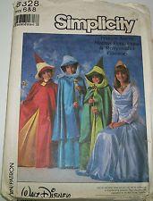 Simplicity 8328--Princess Aurora, Mistress Flora,Fauna and Merryweather Costumes