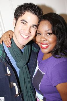 Darren and Amber Riley backstage at Cotton Club Parade and The Performers