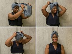 A tutorial on The Sophisticated Knot head wrap style