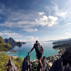 """A little #TravelTuesday inspiration from our friend @lostleblanc """"Last year my girlfriend and I traveled across Southeast Asia for 8 months and this was my favourite photo of our trip. We we're in one of the worlds most beautiful places and I wanted to share the stunning view from above. We hiked 1 hour up a jagged cliff to capture this breathtaking landscape. A few good cuts and a ton of sweating later, we reached the top and we we're rewarded with the view and photo of a lifetime."""""""