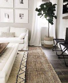#White #Beige #Livingroom #Drapes #Couch #Wood #NaturalTones - Architecture and Home Decor - Bedroom - Bathroom - Kitchen And Living Room Interior Design Decorating Ideas - #architecture #design #interiordesign #homedesign #architect #architectural #homedecor #realestate #contemporaryart #inspiration #creative #decor #decoration