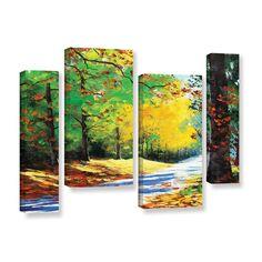 Graham Gercken Vibrant Autumn 4 Piece Painting Print on Wrapped Canvas Set