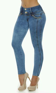 Levantador de bunda Jeans colombianos Fajas colombianas Jeans levanta Cola Pompi 736                                                                                                                                                                                 Más
