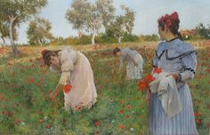 poboh:  In the Poppy Field, Luis Jimenez Aranda. Spanish Impressionist Painter (1845 - 1928)