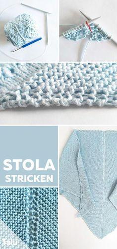 Kostenlose Anleitung - Stola stricken - Talu.de