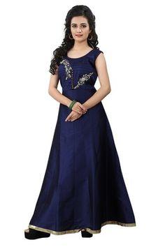 Rahi Fashion Blue Taffeta Embroidered Anarkali Suit Rf20334 Anarkali Suits