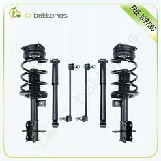 2003-2007 Murano Front Complete Struts /& Rear Shocks Front /& Rear Sway Bar Links