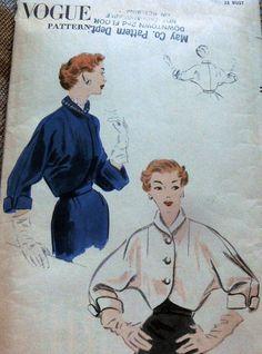 Vogue 7590 misses' jacket 1952 Sz14/32 FF19.49+1.99 4bds 2/17/15