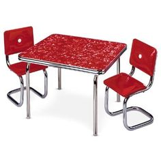 Amazon.com : American Girl Molly's Table & Chair Red : Childrens Furniture : Toys & Games