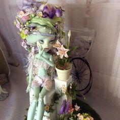 Monster Doll High Repaint. Flower Whisperer LAYAWAY by BeaNMeDolls