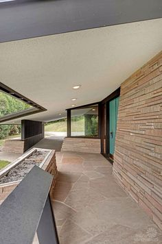 mid century mod exterior front entry porch