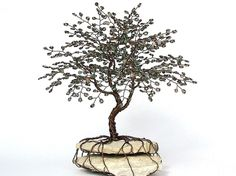 How To Make A Wire Tree | Life Wire Tree. Summer Beaded Bonsai Wire Tree Sculpture - MADE TO ...