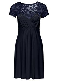 Džersejové šaty s čipkou Ženské • 27.99 € • bonprix