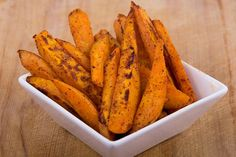 Healthy fries? You bet! This recipe uses sweet potatoes instead of traditional white potatoes to create a crispy, tasty fry that is much healthier than the traditional version. #sweetpotatofries #sweetpotatoes #sidedish