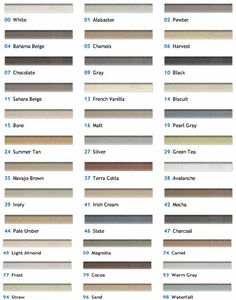 Mapei grout colors classic series there s a better chart on