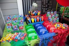 Party details from a PJ Masks Superhero Birthday Party via Kara's Party Ideas | KarasPartyIdeas.com (41)