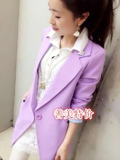 2014 spring slim all-match suit medium-long one button long-sleeve female blazer outerwear  women blazer