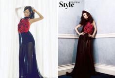 love asian boys: Impresionante dos famosas llevan el mismo vestido: Yuri (SNSD) y Chae Si Ra