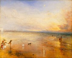 """The New Moon or I've lost My Boat, You shan't have Your Hoop"" by JMW Turner."