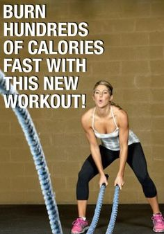 You are going to burn calories and lose weight fast with this workout! Just make sure you do it every day to lose 100 pounds in 6 months. It burns 300 calories in just 20 minutes Weight Loss For Women, Best Weight Loss, Weight Loss Tips, Losing Weight, Weight Lifting, Reduce Weight, How To Lose Weight Fast, Crossfit, Battle Rope Workout