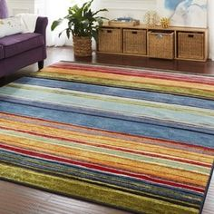Shop for Mohawk Home New Wave Rainbow Area Rug (7'6 x 10'). Get free shipping at Overstock.com - Your Online Home Decor Outlet Store! Get 5% in rewards with Club O! - 14162260