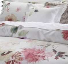 private-collection-botanica-quilt-cover-set-range-detail-multi Home, Sheets, Bed, Bed Pillows, Pillows, Pillow Cases