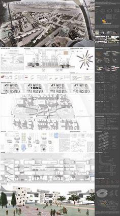 Myongji University College of Architecture Portfolio]Abschlussausstellung 2013 . Presentation Board Design, Architecture Presentation Board, Project Presentation, Architectural Presentation, A As Architecture, Architecture Drawings, Planer Layout, Design Competitions, Portfolio Design