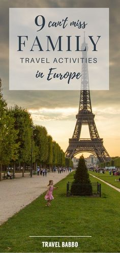 9 Can't Miss Family Travel Activities in Europe: Is Europe a #destination on your family's travel #bucketlist? If it is, #planning your #trip, with #kids, just got easier. Don't miss out on these 9 #family friendly #things to do while in Europe!