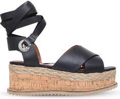 KG KURT GEIGER Noah leather flatform sandals
