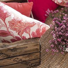 Tela de algod n bordado de flores almohada coj n cojines - Ka international telas ...