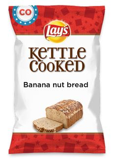Wouldn't Banana nut bread be yummy as a chip? Lay's Do Us A Flavor is back, and the search is on for the yummiest chip idea. Create one using your favorite flavors from around the country and you could win $1 million! https://www.dousaflavor.com See Rules.