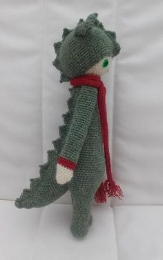 DIRK the dragon made by Margaret H. / crochet pattern by lalylala