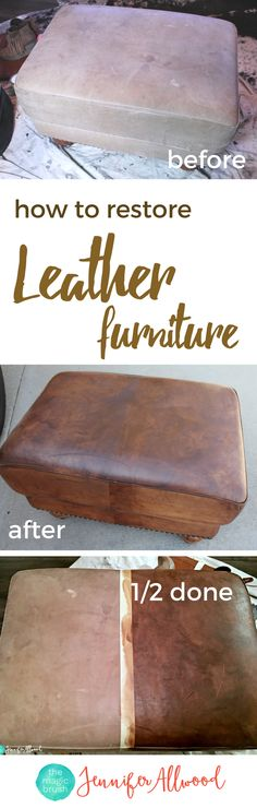 How to Paint Leather Furniture  Leather furniture