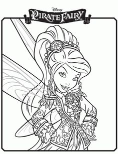 Disney Pirate Fairy Free Printable Coloring Pages - Grab A Box Of Crayons! Tinkerbell Coloring Pages, Fairy Coloring Pages, Colouring Pics, Disney Coloring Pages, Free Printable Coloring Pages, Coloring For Kids, Coloring Pages For Kids, Coloring Sheets, Coloring Books