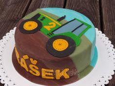 Dort s traktorem zboku 4th Birthday, Birthday Cake, Farming, Leo, Desserts, Two Year Olds, Birthday, Tractor, Bakken