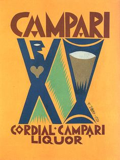Futurist design for Campari by Fortuato Depero. painter, sculptor and graphic designer