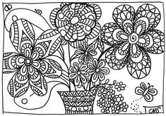 Parce que les beaux jours sont enfin là, un petit coloriage de saison :) - bouquet de printemps.pdf