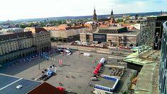 REWE Teamchalleange Dresden Altmarkt von oben